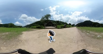 THETA 360度の映像にキャラクターアニメーションを合成して見た
