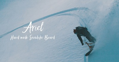 Ariel - Hand made Snowbike Board -